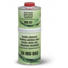 Прозрачный бесцветный акриловый лак ARS color MS 960 c стандартным отвердителем.
